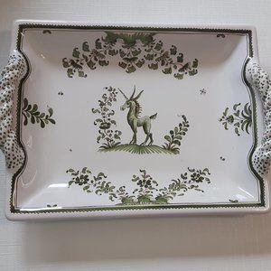 Rare Unicorn Dish Bondie d'moustiers piece